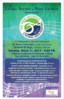 West Georgia Choral Arts Festival Poster 2017