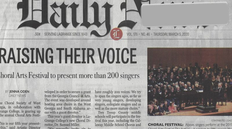 Choral Festival Article